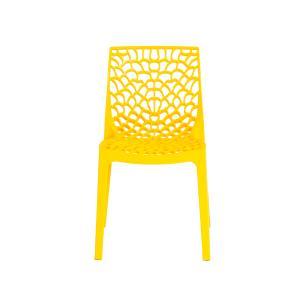 Kit 4 Cadeiras Gruvyer Amarela Sala Cozinha Jantar