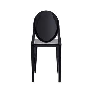 Kit 3 Cadeiras Victoria Ghost Preta