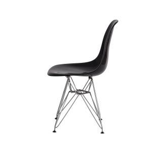 Kit 2 Cadeiras Eiffel Eames de Abs Base Cromada Preta