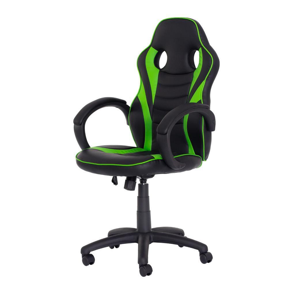 Cadeira Gamer Racer pu Preta Com Verde