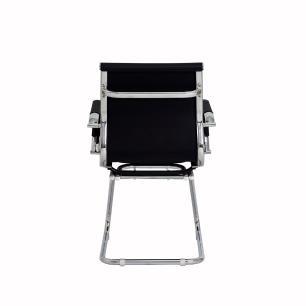 Cadeira Escritório Stripes Fixa pu Preta