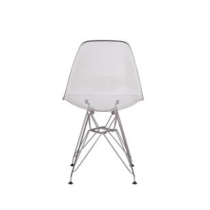 Kit 3 Cadeiras Eiffel Eames Dsr Transparente Base Cromada