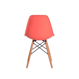 Kit 3 Cadeiras Charles Eiffel Eames Living Coral Base Madeira Sala Cozinha Jantar
