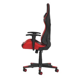 Cadeira Gamer Ben Reclinável 180º Giratória Preta Com Vermelho Altura Ajustável