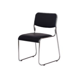 Cadeira Escritório Interlocutor Dakar Preta Base Fixa Cromada