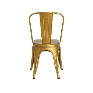 Cadeira Tolix Iron Design Chrome Gold