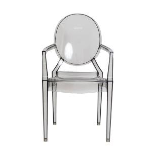 Kit 3 Cadeiras Louis Ghost Preto Translúcido