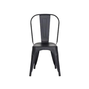 Kit 2 Cadeiras Tolix Iron Design Preto Fosco Aço Industrial Sala Cozinha Jantar Bar