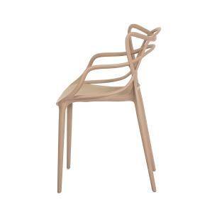 Kit 2 Cadeiras Allegra Nude Sala Cozinha Jantar