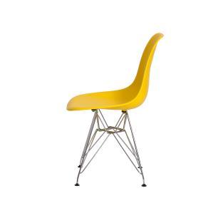 Kit 3 Cadeiras Eiffel Eames Amarela Base Cromada