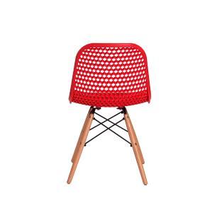 Kit 3 Cadeiras Colméia Vermelha