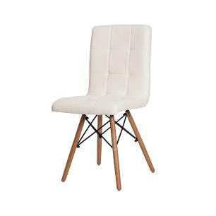 Cadeira Gomos Branca Base Madeira Sala Jantar Cozinha