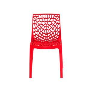 Cadeira Gruvyer Vermelha Sala Cozinha Jantar