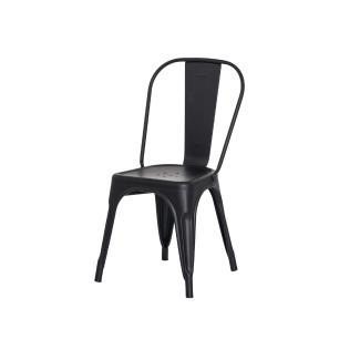 Kit 3 Cadeiras Tolix Iron Design Preto Fosco Aço Industrial Sala Cozinha Jantar Bar