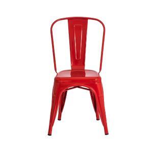 Kit 3 Cadeiras Tolix Iron Design Vermelha