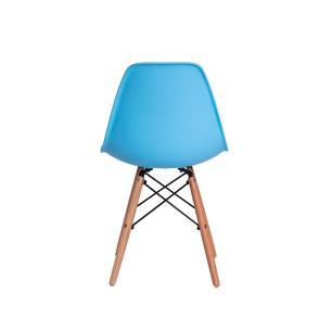 Kit 3 Cadeiras Eiffel Eames Dsw Azul Claro Base Madeira