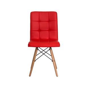 Kit 2 Cadeiras Gomos Vermelha Base Madeira Sala Jantar Cozinha