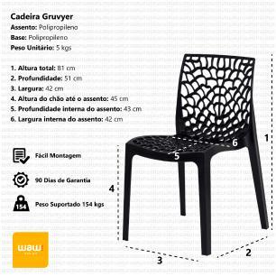 Kit 2 Cadeiras Gruvyer Fendi