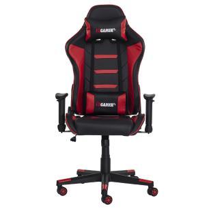 Cadeira Gamer ii Reclinável 180º Giratória Preto e Vermelho Altura Ajustável Função Relax