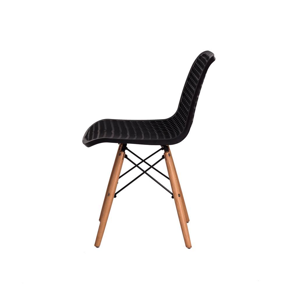 Kit 2 Cadeiras Colméia Eloisa Preta Sala Cozinha Jantar