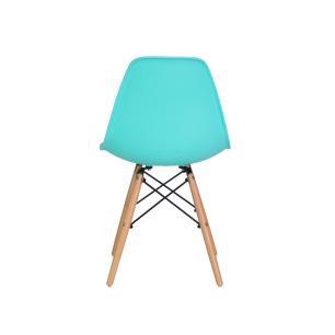 Kit 5 Cadeiras Eiffel Eames Tiffany Base Madeira