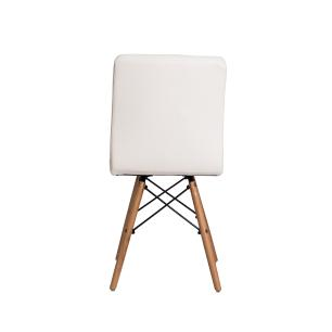 Kit 4 Cadeiras Gomos Branca Base Madeira Sala Jantar Cozinha
