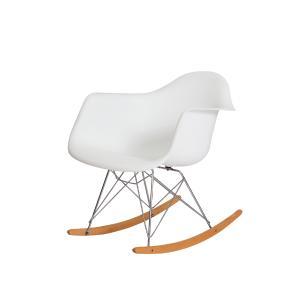 Cadeira Eiffel Eames Rar C/braço Branca Balanço