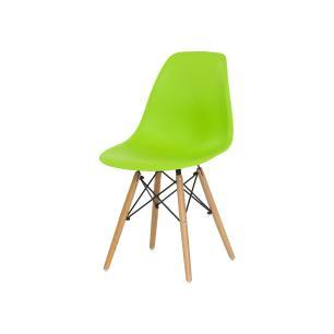 Cadeira Charles Eames Eiffel Verde Base Madeira Sala Cozinha Jantar