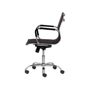 Kit 2 Cadeiras Escritório Stripes Diretor pu Preta Base Giratória Cromada Altura Ajustável