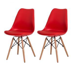Kit 2 Cadeiras Saarinen Torre Vermelha