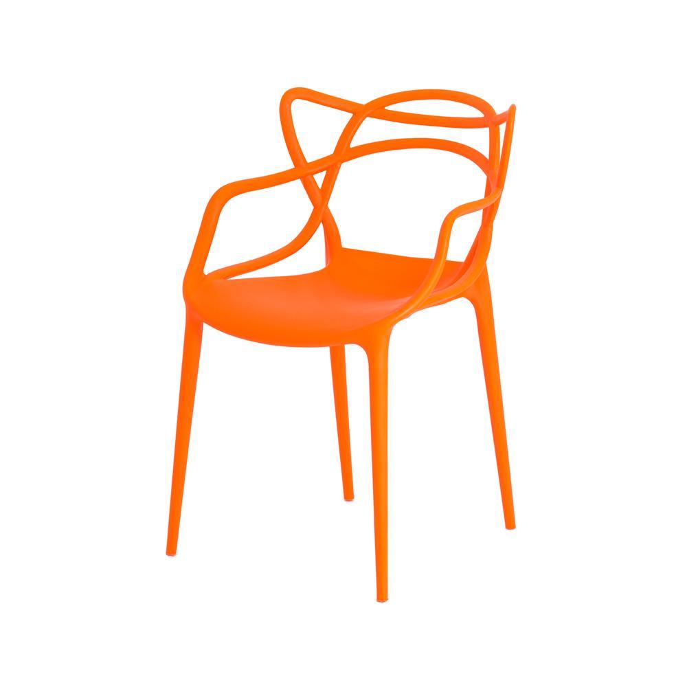 Kit 2 Cadeiras Allegra Laranja Sala Cozinha Jantar