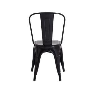 Kit 8 Cadeiras Tolix Iron Design Preta Aço Industrial Sala Cozinha Jantar Bar