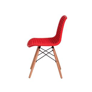 Kit 4 Cadeiras Colméia Vermelha