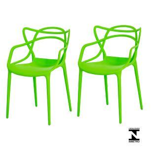 Kit 2 Cadeiras Allegra Verde Sala Cozinha Jantar