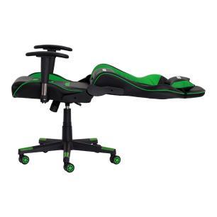 Cadeira Gamer ii Reclinável 180º Giratória Preta Com Verde Altura Ajustável Função Relax