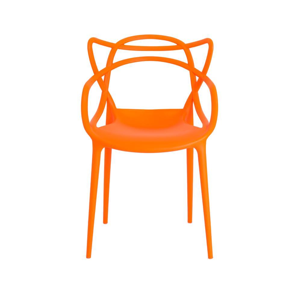 Kit 4 Cadeiras Allegra Laranja Sala Cozinha Jantar