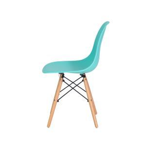 Kit 2 Cadeiras Eiffel Eames Tiffany Base Madeira