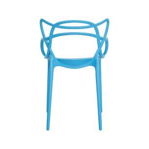 Kit 4 Cadeiras Allegra Azul Sala Cozinha Jantar