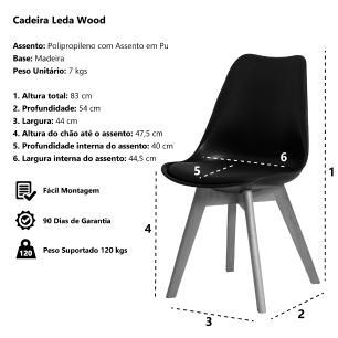Cadeira Leda Saarinen Design Branca Sala Cozinha Jantar