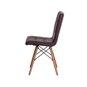 Kit 2 Cadeiras Gomos Marrom Café Base Madeira