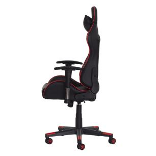 Cadeira fx Gamer Reclinável 180º Giratória Preto e Vermelho Ajustável Função Relax Rodas Anti Risco