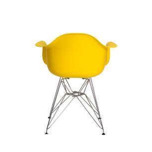 Kit 2 Cadeiras Eiffel Eames c/ Braço Base Cromada
