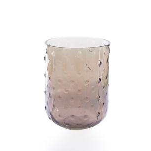 Vaso Decorativo em Vidro Cobre baixo