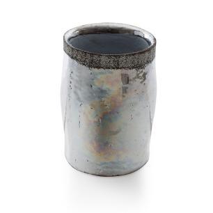 Vaso Decorativo em Cerâmica Metalizada Baixo