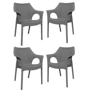 KIT - 4 x cadeiras de jardim Relic