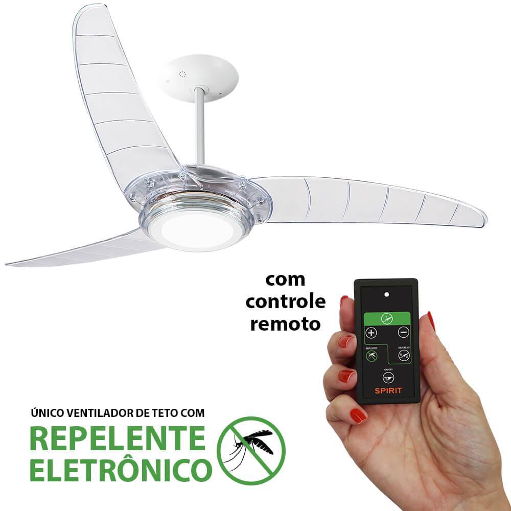 Ventilador De Teto Spirit 303 Cristal Led Repelente Controle Remoto