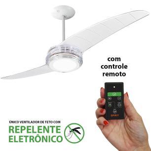 Ventilador De Teto Spirit 203 Cristal Led Repelente Controle Remoto