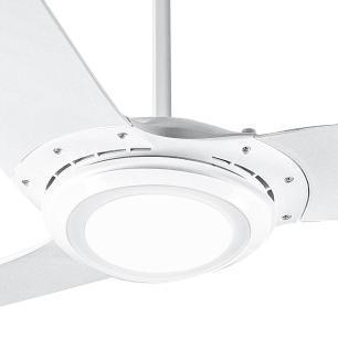 Ventilador De Teto Spirit 303 Branco Led Repelente Controle Remoto