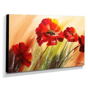 Quadro de Pintura Papoulas 60x105cm-1533