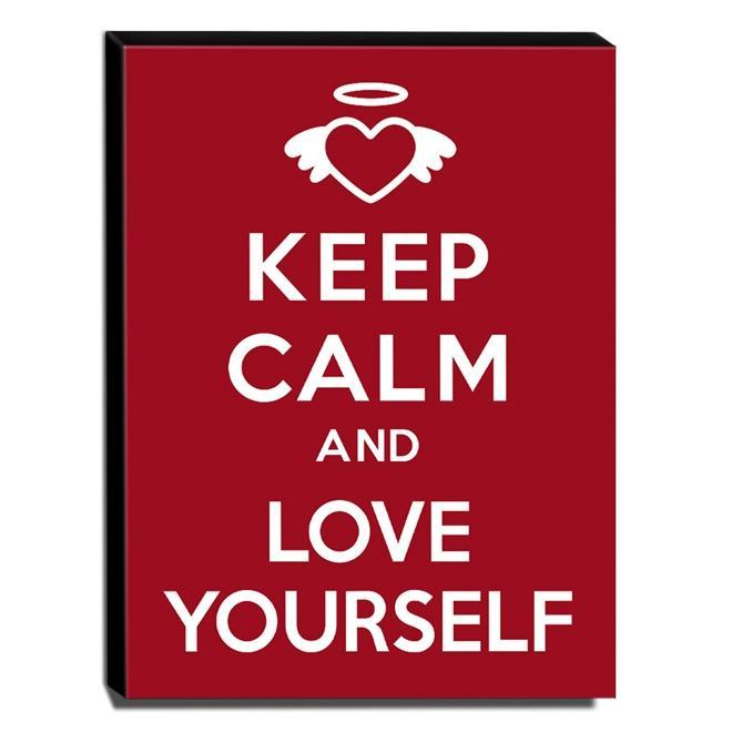 Quadro Keep Calm And Love Yourself Canvas 40x30cm-KCA17